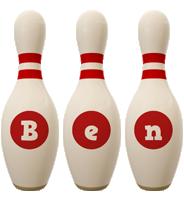 Ben bowling-pin logo