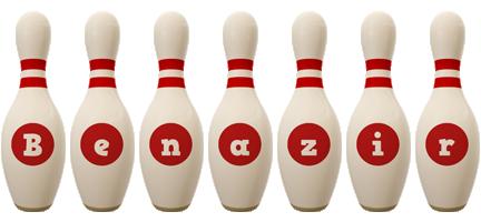 Benazir bowling-pin logo