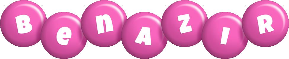 Benazir candy-pink logo