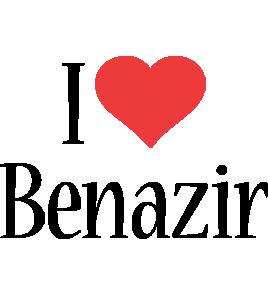 Benazir i-love logo
