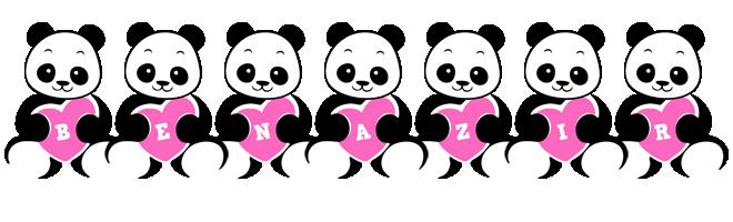 Benazir love-panda logo