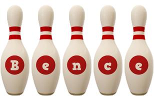 Bence bowling-pin logo
