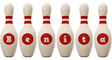 Benita bowling-pin logo