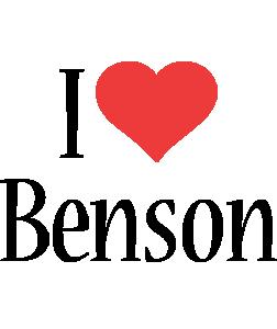 benson logo name logo generator i love love heart