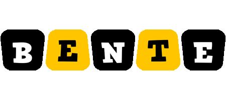 Bente boots logo