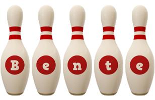 Bente bowling-pin logo