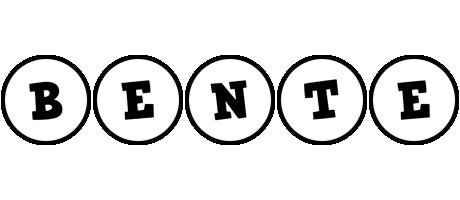Bente handy logo