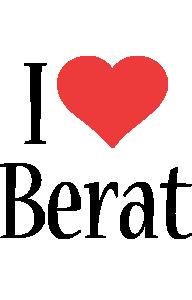 Berat i-love logo