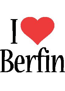 Berfin i-love logo