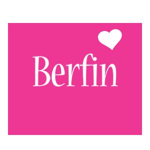 Berfin love-heart logo
