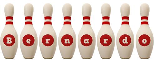Bernardo bowling-pin logo