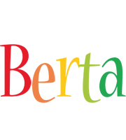 Berta birthday logo