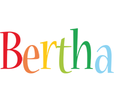 Bertha birthday logo