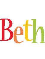 Beth birthday logo