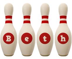 Beth bowling-pin logo