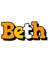Beth cartoon logo