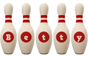 Betty bowling-pin logo