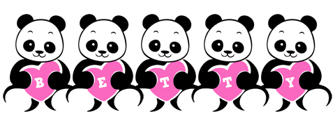 Betty love-panda logo