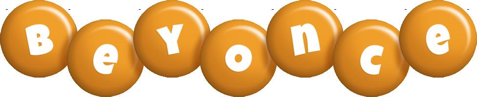 Beyonce candy-orange logo