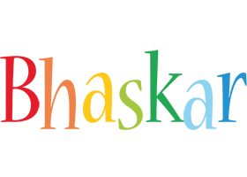 Bhaskar birthday logo