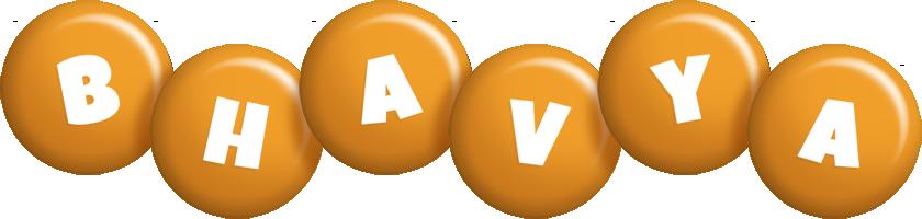 Bhavya candy-orange logo