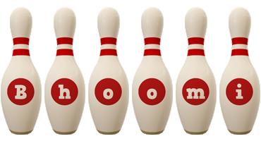 Bhoomi bowling-pin logo