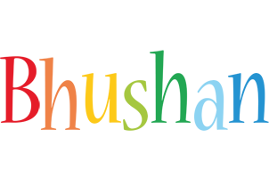 Bhushan birthday logo