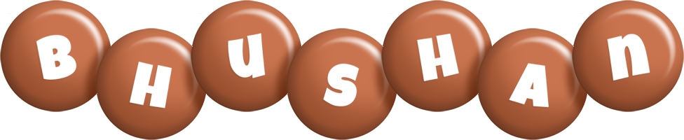 Bhushan candy-brown logo