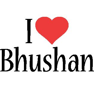Bhushan i-love logo