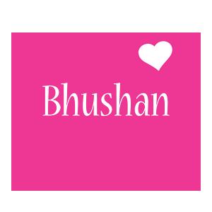 Bhushan love-heart logo