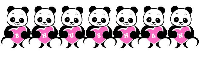 Bhushan love-panda logo