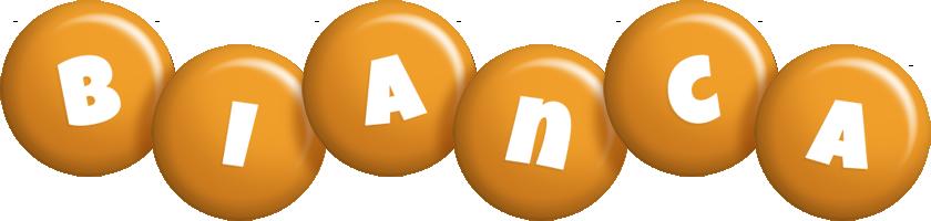 Bianca candy-orange logo