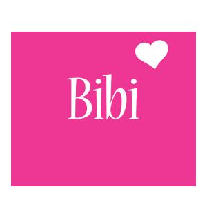 Bibi love-heart logo