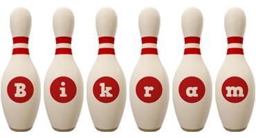Bikram bowling-pin logo