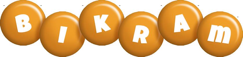 Bikram candy-orange logo