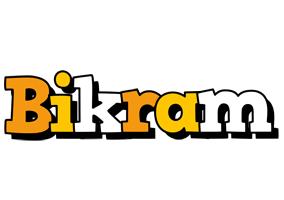 Bikram cartoon logo