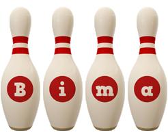 Bima bowling-pin logo