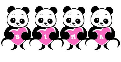 Bima love-panda logo