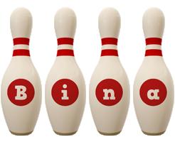 Bina bowling-pin logo