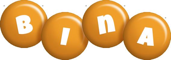 Bina candy-orange logo
