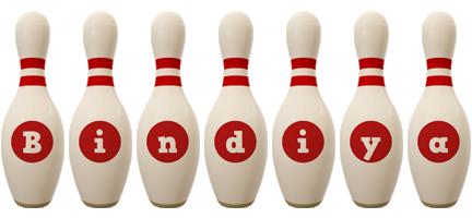 Bindiya bowling-pin logo