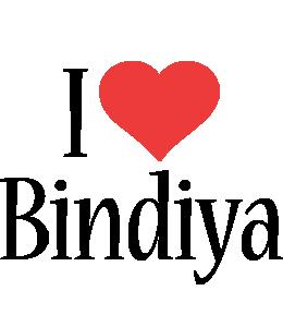 Bindiya i-love logo