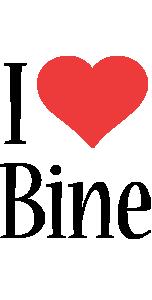 Bine i-love logo
