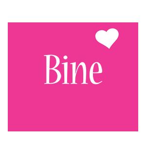 Bine love-heart logo