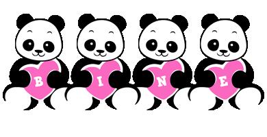 Bine love-panda logo