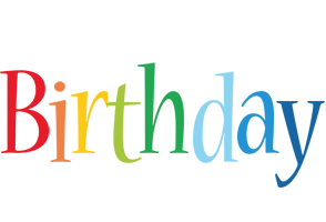BIRTHDAY logo effect. Colorful text effects in various flavors. Customize your own text here: https://www.textGiraffe.com/logos/birthday/
