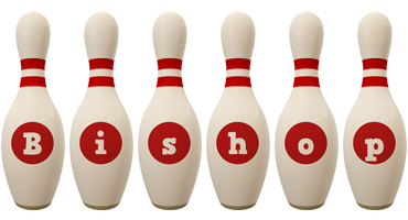 Bishop bowling-pin logo