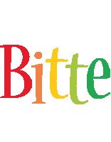 Bitte birthday logo
