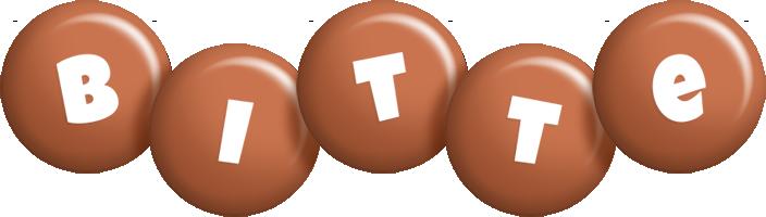 Bitte candy-brown logo