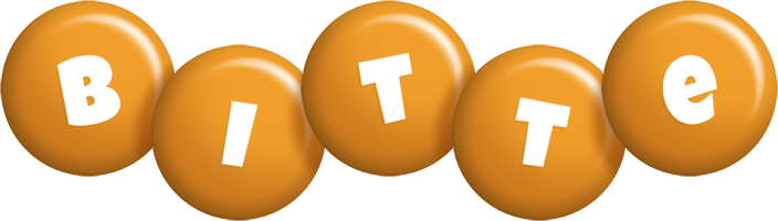 Bitte candy-orange logo